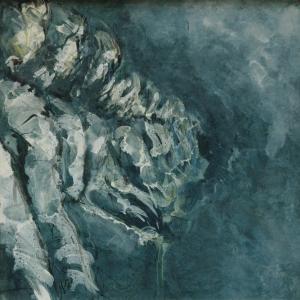 External Space l,  Oil on voile, image size 57cm x 57cm.