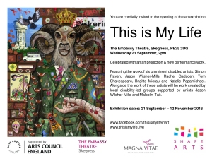 "Open invitation to the opening of the Art Exhibition ""This is My Life"""