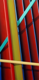 Opus 1: Laths (Large) An exploration of depth through colour.