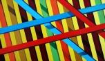 Opus 2: Laths (Small). An exploration of depth through colour.